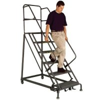 Safety Angle Steel Rolling Ladders - Tri-Arc KDEC106246