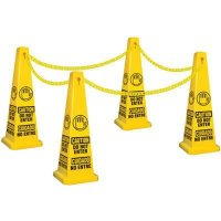 Bilingual Caution Do Not Enter Safety Cone Kit