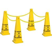 Bilingual Restricted Area Safety Cone Kit