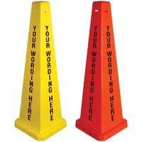 Custom-Worded Floor Safety Cone