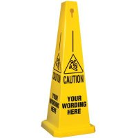 Custom-Worded Safety Cone