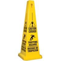Bilingual Tripping Hazard Safety Cone