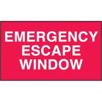 Emergency Escape Window Safety Door And Window Decals