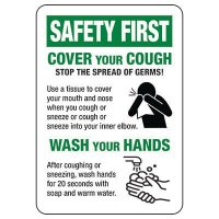 Cover Your Cough - Stop The Spread Of Germs Sign