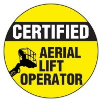 Safety Hard Hat Labels - Certified Aerial Lift Operator