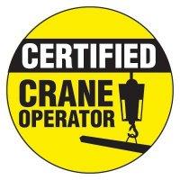Safety Hard Hat Labels - Certified Crane Operator