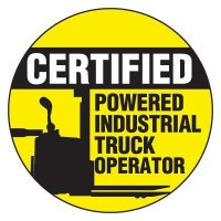 Certified Powered Industrial Truck Operator - Safety Hard Hat Labels