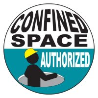 Safety Hard Hat Labels - Confined Space Authorized