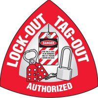 Safety Hard Hat Labels - Lock-Out Tag-Out Authorized