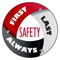 Safety Hard Hat Labels - Safety First, Last, Always