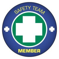 Safety Hard Hat Labels - Safety Team Member (Cross Graphic)