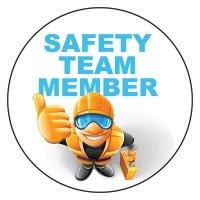Safety Hard Hat Labels - Safety Team Member (Worker Graphic)
