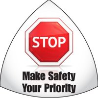Safety Hard Hat Labels - Stop Make Safety Your Priority