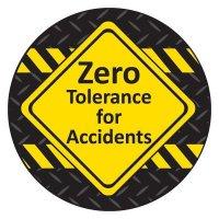 Safety Hard Hat Labels - Zero Tolerance