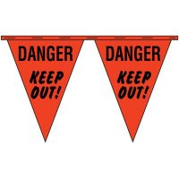 Danger Keep Out Safety Pennants NATIONAL BANNER CO INC/ NABCO CP41060