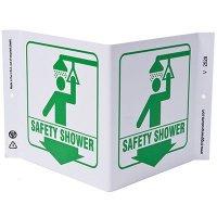 Safety Shower V-Style Sign