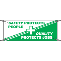 Safety Slogan Banners - Safety Protects People