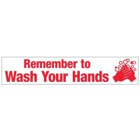 Slogan Mirror Labels - Remember To Wash Your Hands