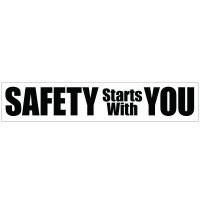 Slogan Mirror Labels - Safety Starts With You