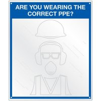 Safety Slogan Mirror Signs - Wearing The Correct PPE