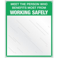 Safety Slogan Mirror Signs - Working Safely