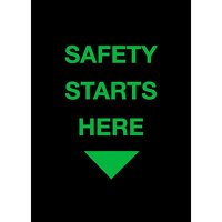 Safety Starts Here - Safety Message Mat