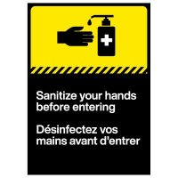 Hand Sanitizer Decals - French/English