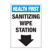Sanitizing Wipe Station Label