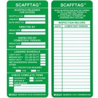 Scafftag® Scaffold Safety Management Replacement Insert Tags