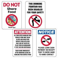 Social Distancing Signage Kit for Cafeterias #1