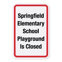 Custom Playground Signs - Playground Closed