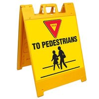 Yield To Pedestrians Barricade