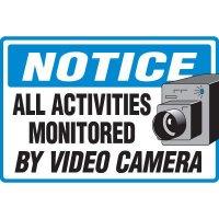 Notice Video Camera Floor Marker