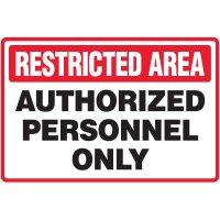 Restricted Area Floor Marker