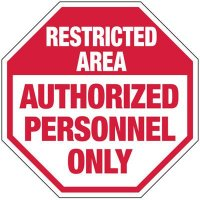 Restricted Area Security Sign