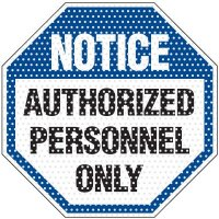 See-Thru Authorized Personnel Label