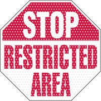 See-Thru Restricted Area Security Label