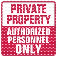 See-Thru Private Property Label