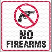 See-Thru No Firearms Security Label