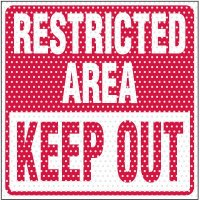 See-Thru Restricted Area Label