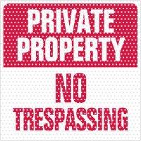 See-Thru No Trespassing Labels