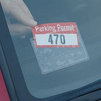 Self-Adhesive Parking Permit Holder
