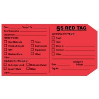 Self-Adhesive Red Tag - 5S Red Tag