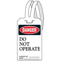 Danger Do Not Operate Self-Fastening Plastic Tags