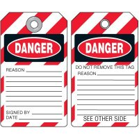 Danger Self-Laminating Accident Prevention Tag