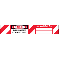 Self-Laminating Padlock Labels - Equipment locked out