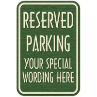 Semi-Custom Designer Property Signs - Reserved Parking