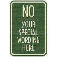 Semi-Custom Designer Parking Signs - No