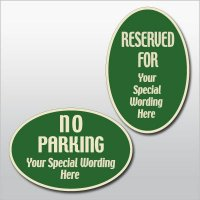 Semi-Custom Designer Oval Signs