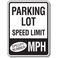 Semi-Custom Parking Lot Speed Limit Signs